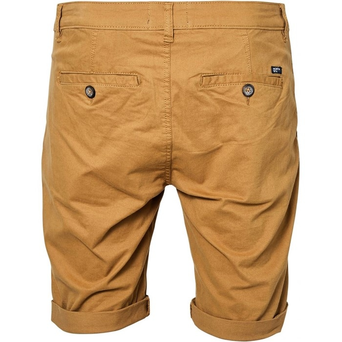 North 56°4 Chino shorts met stretch, koperbruin