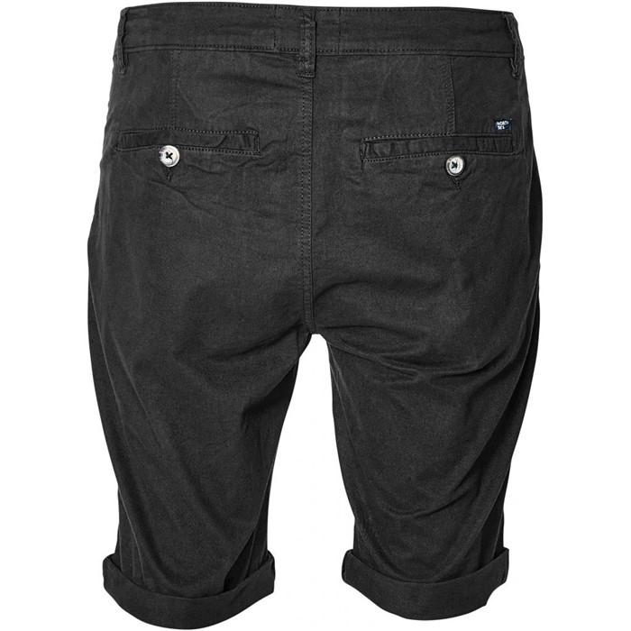 North 56°4 Chino shorts met stretch, zwart