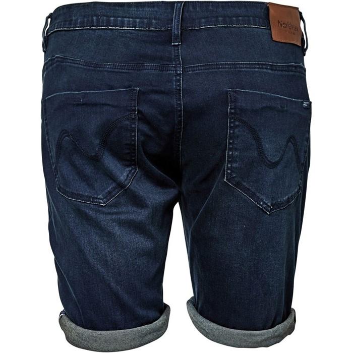 North 56°4 denim shorts stretch, dark blue wash