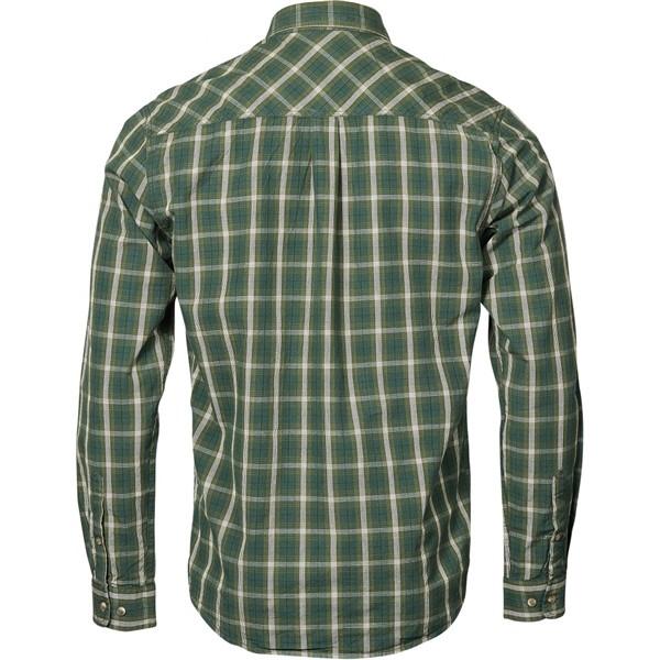 North 56°4 overhemd lange mouw geruit, d.groen