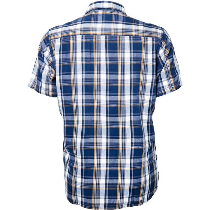 North 56°4 shirt KM, blauw geruit