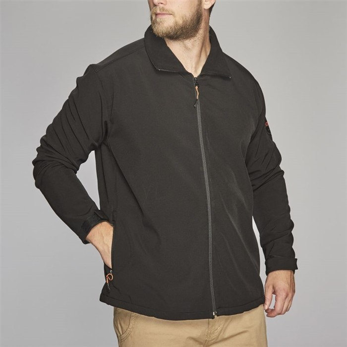 North 56°4 Softshell jack, zwart