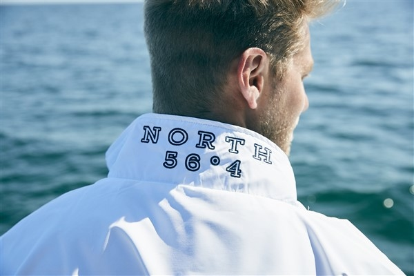 North 56°4 sportief regenjack 5000mm, navy/wit