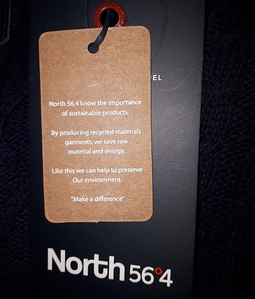 North 56°4 T-shirt 'Make a difference', wit