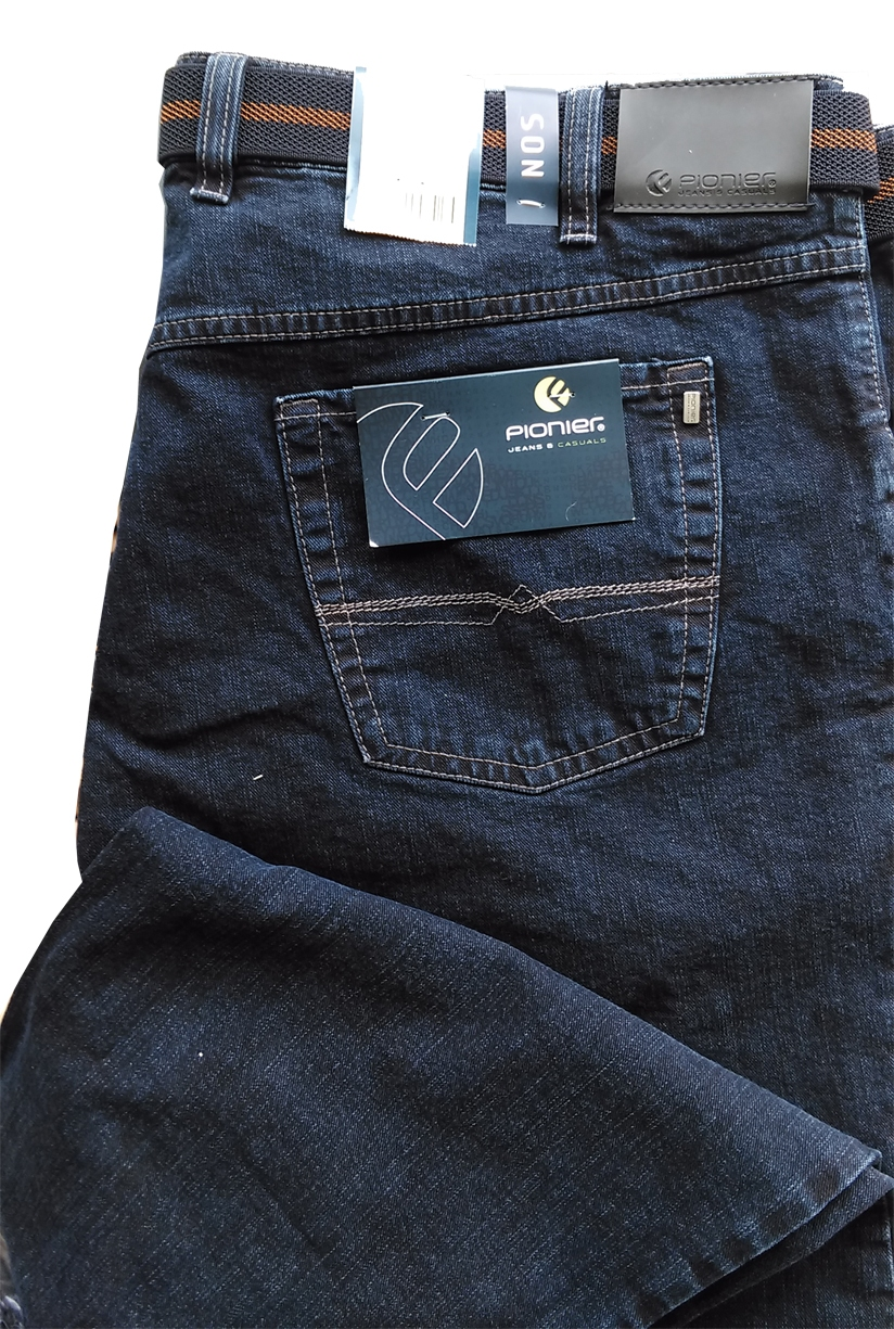 Pionier 5-pocket jeans Peter stretch m. hoge taille, stone