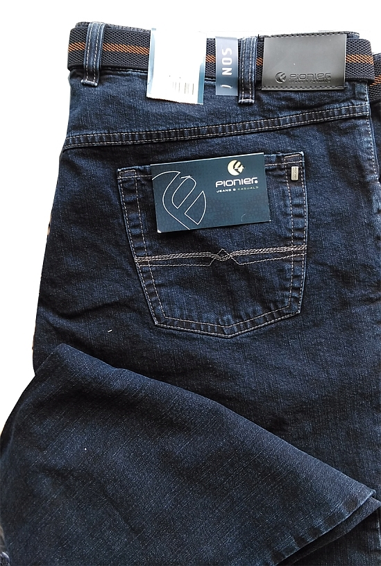 Pionier 5-pocket jeans Peter stretch m. hoge taille, washed