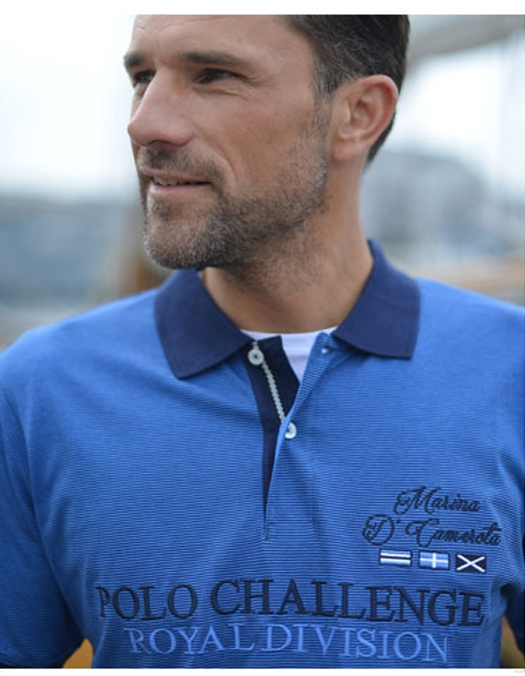 Polo 'Sailing Crew', navy blauw