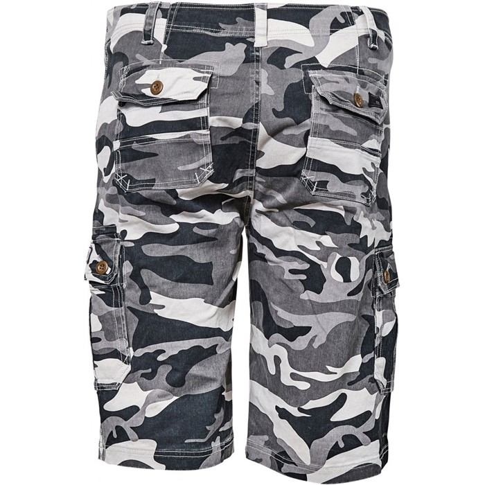 Replika cargo shorts camouflage m. stretch, camo grijs