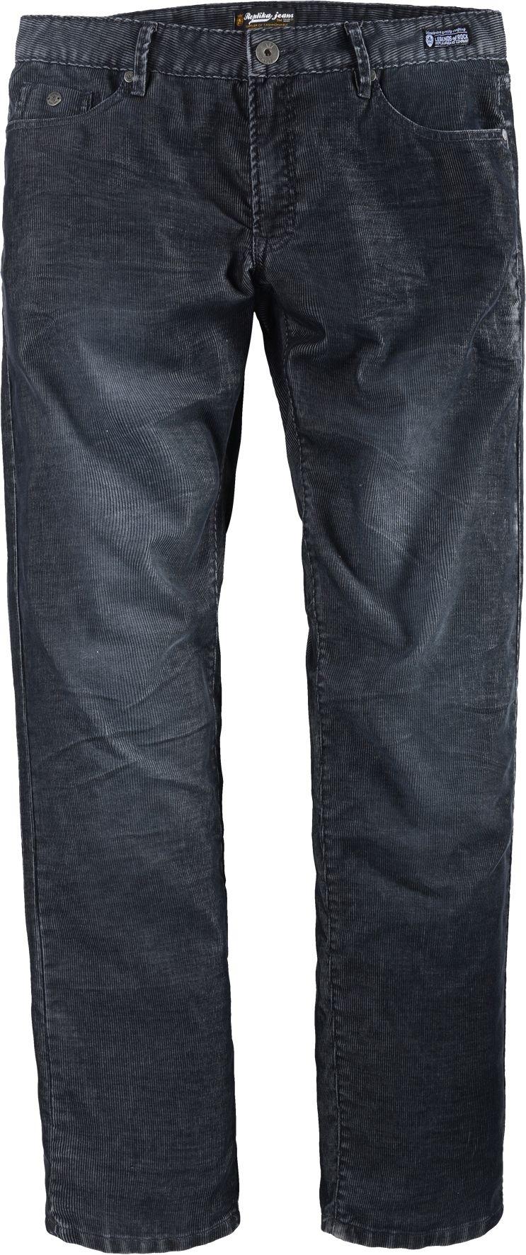 Replika Corduroy broek L34, donkergrijs