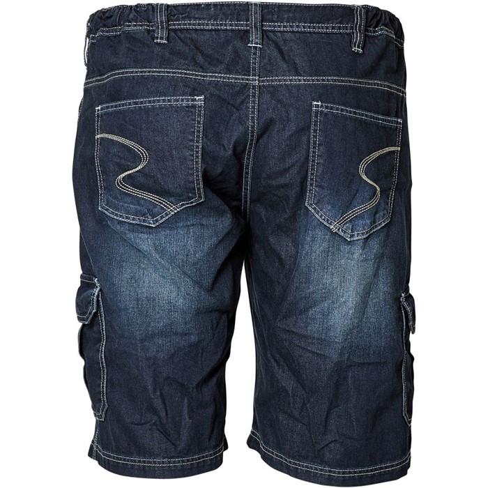 Replika denim shorts m. elastische boord, blue wash