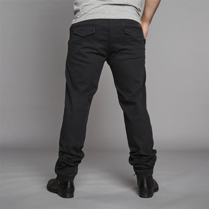 Replika Superstretch jeans w. elastic waist, black wash