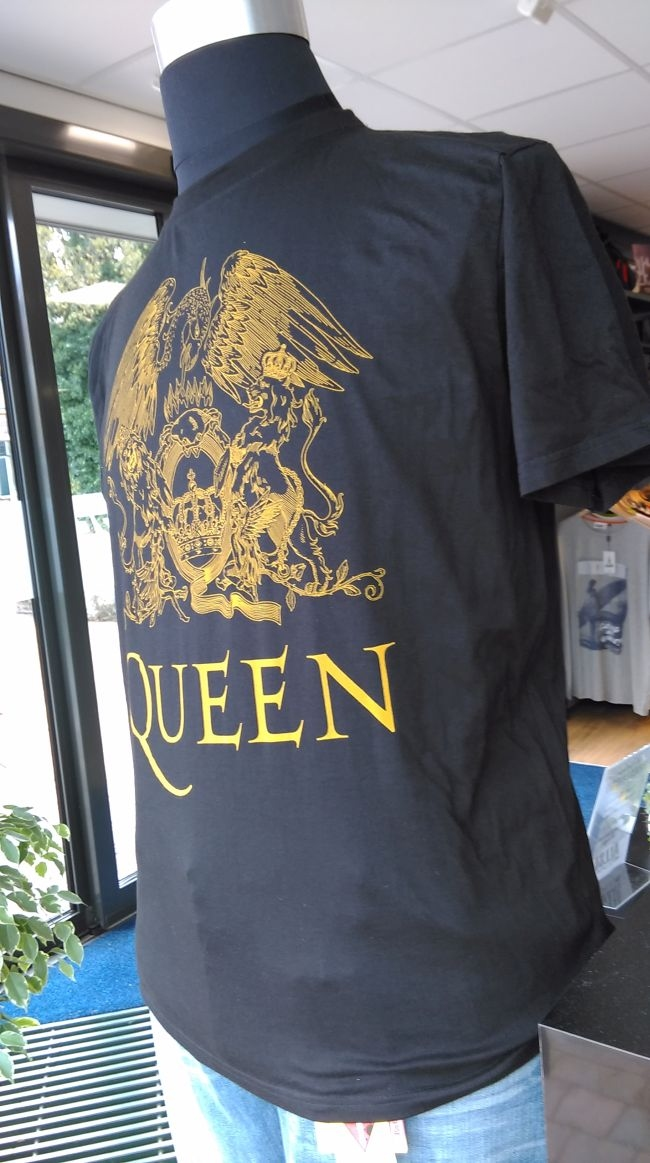 Replika t-shirt 'Queen' print, zwart