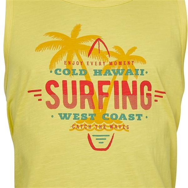 Replika tanktop Surfing print, geel