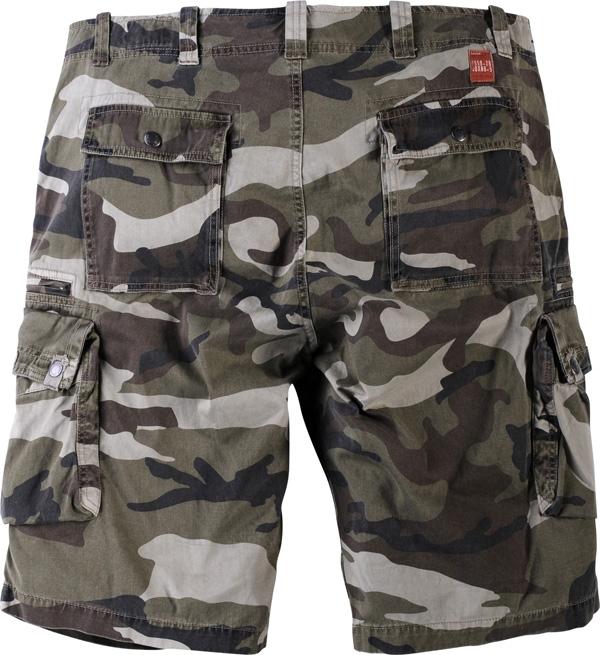 Shorts camouflage-look, camo groen