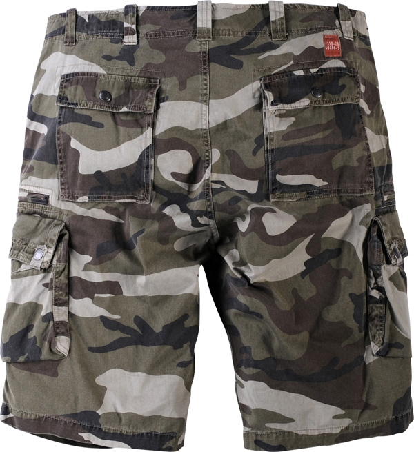 Shorts camouflage-look, camo groen
