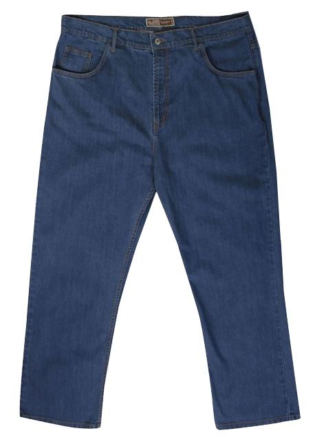 Stretch denim jeans Mistral m. hoge taille, stone wash