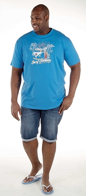 T-shirt 'Surf Seekers', mid blue