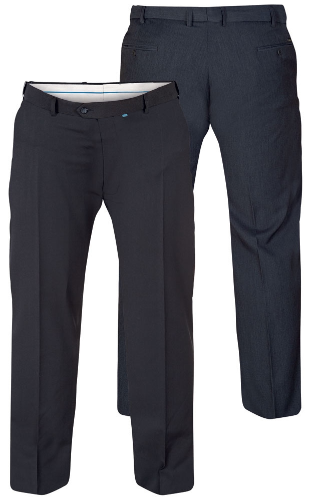 Terlenka broek m. rekbare taille, navy blauw