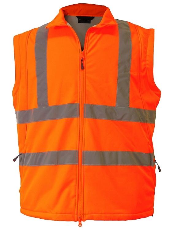 Veiligheids Softshell jas waterdicht, fluo oranje