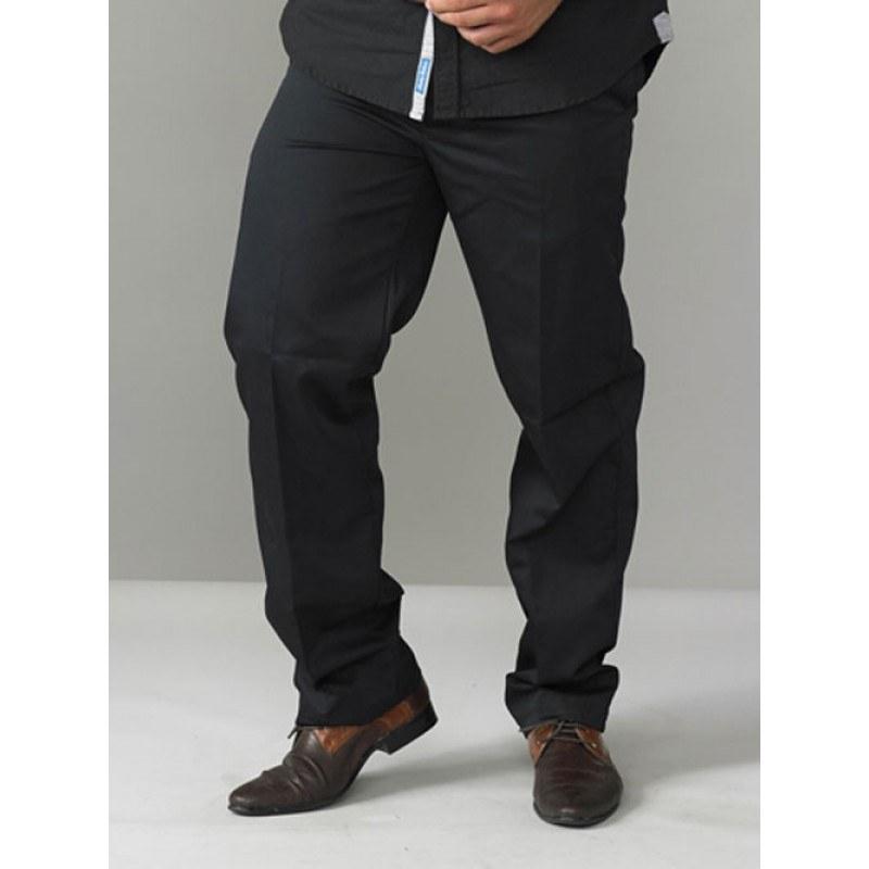 Werkbroek m. elastische tailleboord, zwart