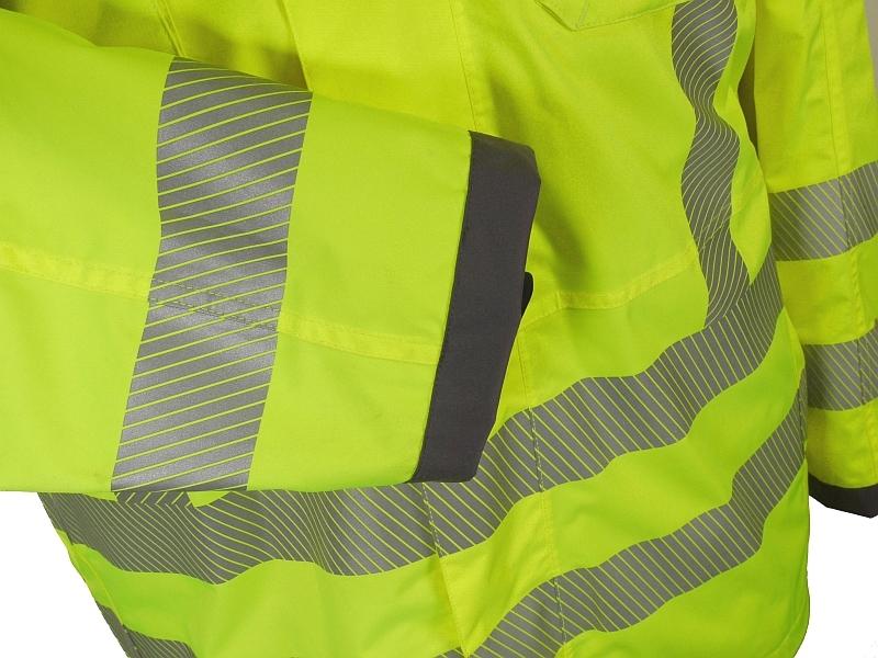 Wind- en waterdichte veiligheids regenjas, fluo geel