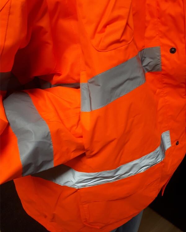 Wind- en waterdichte veiligheidsjas, oranje