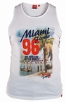 Tank top 'MIAMI Florida', grijs melée