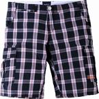 North 56°4  korte shorts, zwart geruit