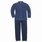Doorknoop pyjama FRITZ m. lange broek, blauw