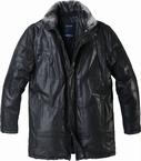 North 56°4  3/4 jas 'Into the Wild', zwart leder