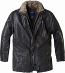 North 56°4  3/4 jas 'Into the Wild', donkerbruin leder