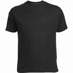 US T-shirt, effen zwart