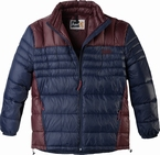 Replika Dons quilted winterjack, navy-wijnrood