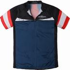 Fietsshirt korte mouw, navy-rood