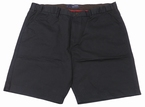 Chino shorts m. verstelbare taille, donker navy