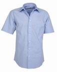 Stijlvol overhemd korte mouw, effen licht blauw