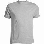 US T-shirt, effen grijs melée