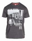 T-shirt 'New York Manhattan', zwart melée
