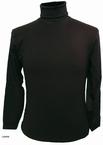 Kitaro t-shirt lange mouw met col, zwart