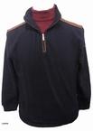 Kitaro Sweater trui met boordrits, navy
