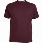 US T-shirt, effen bordeaux rood