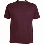 US T-shirt, effen bordeaux rood