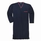 Jersey nachthemd lang model, navy blauw