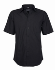 Stijlvol overhemd korte mouw, effen zwart