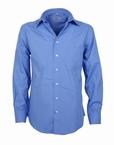 Stijlvol overhemd lange mouw, effen blauw