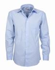 Stijlvol overhemd lange mouw, effen licht blauw