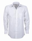 Stijlvol overhemd lange mouw, effen wit