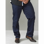 Werkbroek m. elastische tailleboord, navy blauw