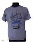 T-shirt 'Sailing Tours' gestreept, navy blauw