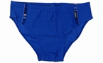 Zwembroek met deco randen, koningsblauw